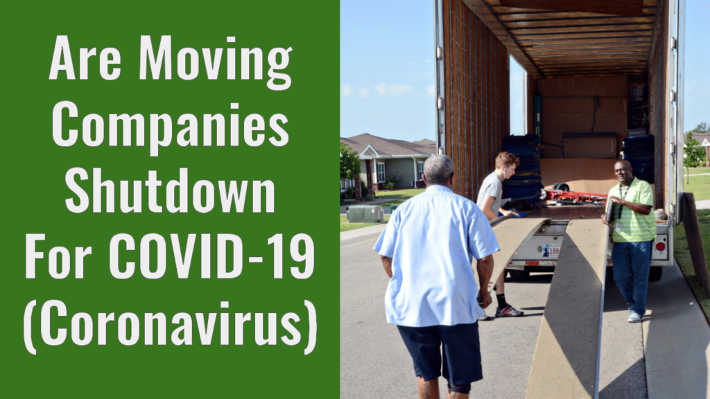 moving during coronavirus